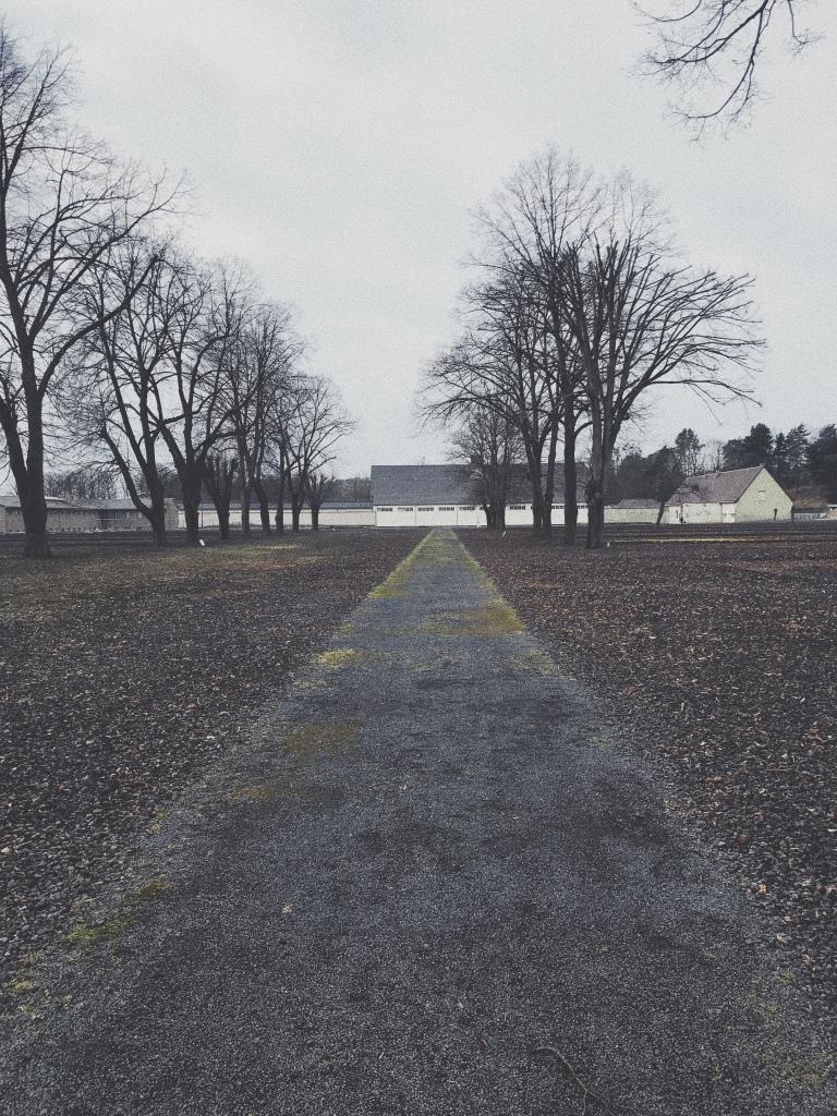 Lagerstraße des Konzentrationslagers Ravenbrück, Blick auf